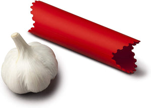 Quick and Easy SIlicone Garlic Peeler - Red