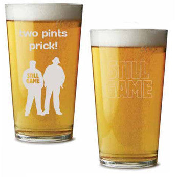Still Game Pint Glass
