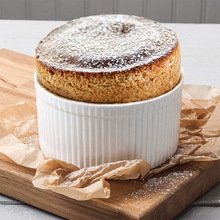 Load image into Gallery viewer, the ramekin with a souffle inside it