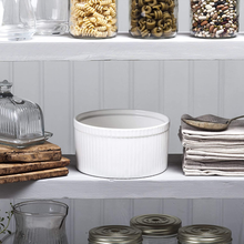 Load image into Gallery viewer, the ramekin sitting upon a pantry shelf