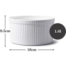 Load image into Gallery viewer, An image depicting the dimensions of the ramekin