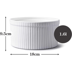 An image depicting the dimensions of the ramekin