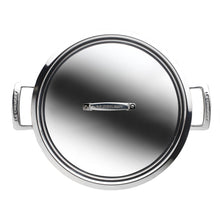 Load image into Gallery viewer, a view of the stainless steel casserole pan from above