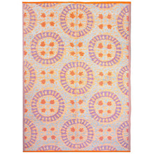 Load image into Gallery viewer, orange patterned outdoor rug