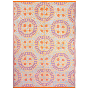 orange patterned outdoor rug