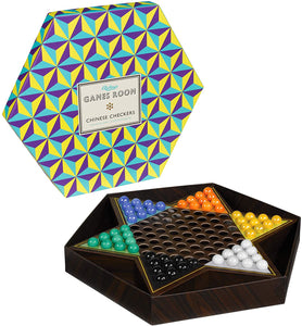 The game set up to show it's star shaped board and coloured marbles