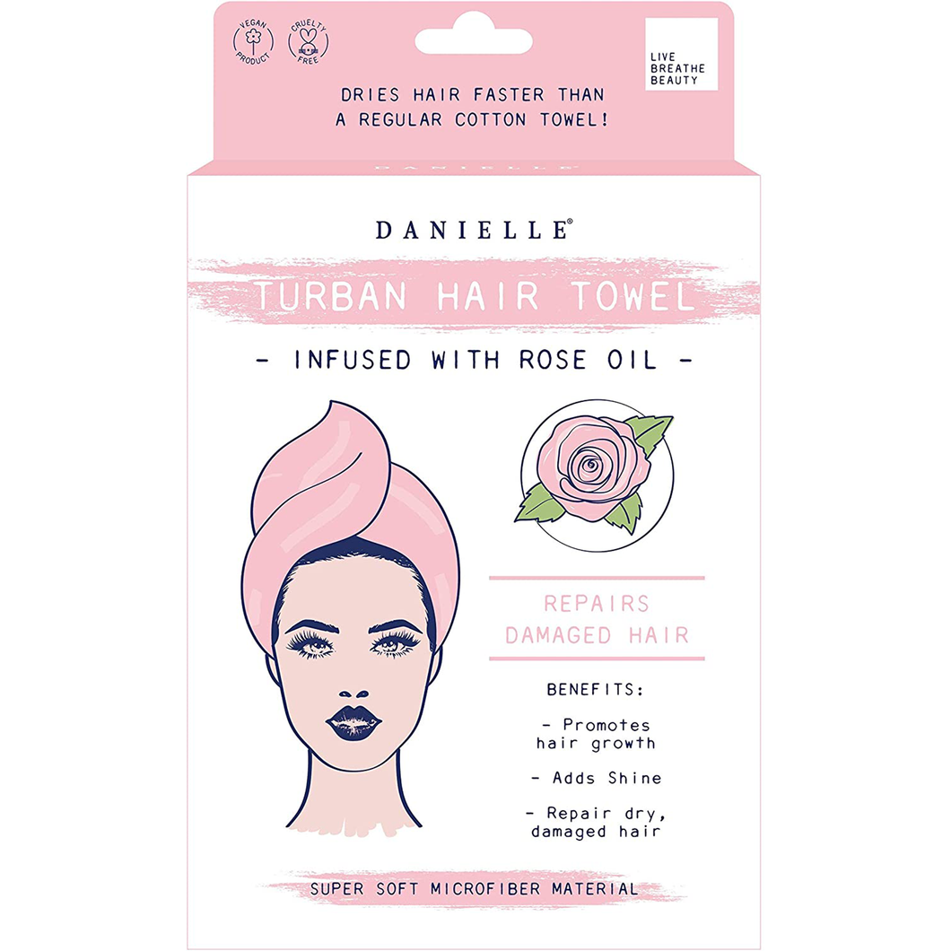 Danielle Creations Rose Oil Infused Hair Towel