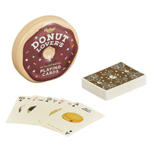 Load image into Gallery viewer, the donut shaped tin with the donut themed cards