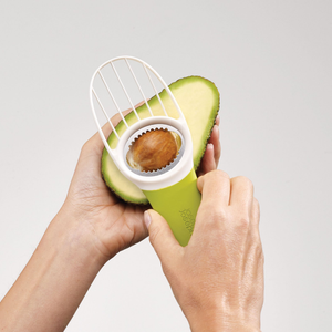 The GoAvocado Tool pitting an avocado