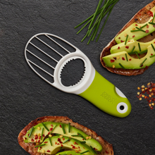 Load image into Gallery viewer, The GoAvocado Tool displayed with avocado on toast