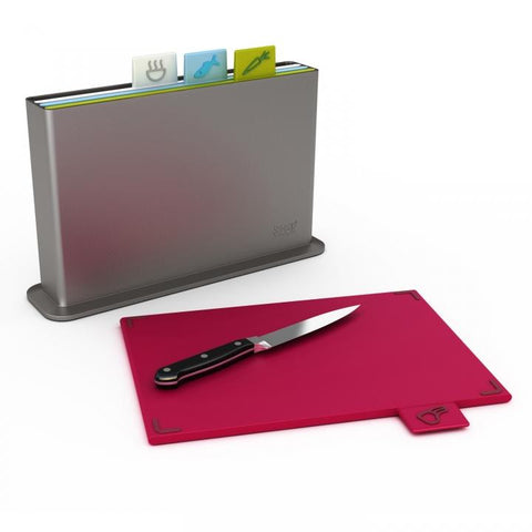 Index Advance 4 Piece Chopping Board Set by Joseph Joseph - Knife Included