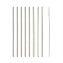 Load image into Gallery viewer, Kikkerland Stainless Steel Straws