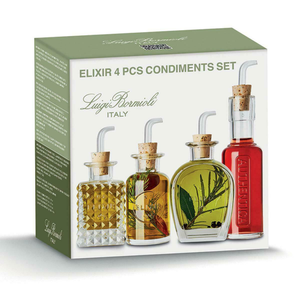 The box for the set of four condiment bottles