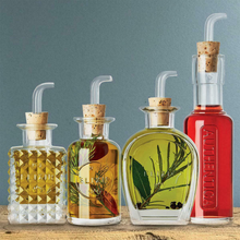 Load image into Gallery viewer, The condiment bottle set display with oil and vinegar inside