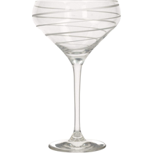 Load image into Gallery viewer, a champagne saucer with a swirl design