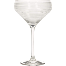 Load image into Gallery viewer, a champagne saucer with horizontal stripes