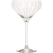 Load image into Gallery viewer, A champagne saucer with vertical stripes