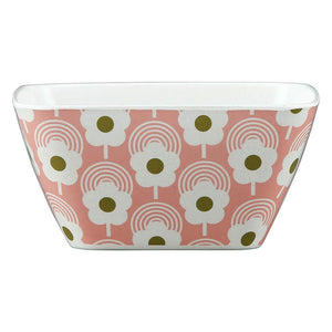 Orla Kiely Bamboo Bowl Lollipop Flower Bubblegum Front view
