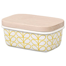 Load image into Gallery viewer, Orla Kiely Enamel Butter Dish Linear Stem Dandelion