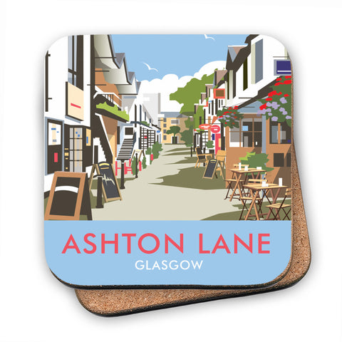 Ashton Lane Glasgow - Cork Coaster
