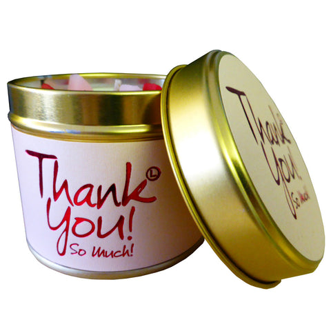 Thank you Scented Candle by Lily Flame