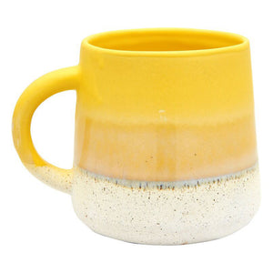 yellow glaze mug