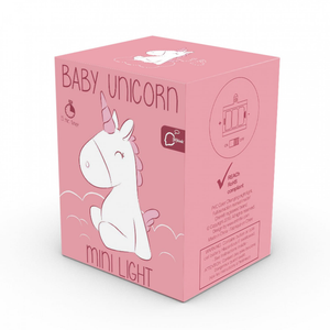 the box for the baby unicorn night light