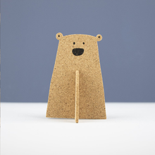 Load image into Gallery viewer, a 3D cork bear
