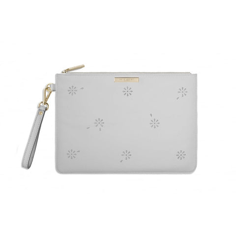 Katie Loxton Beautiful Blossom pouch in grey