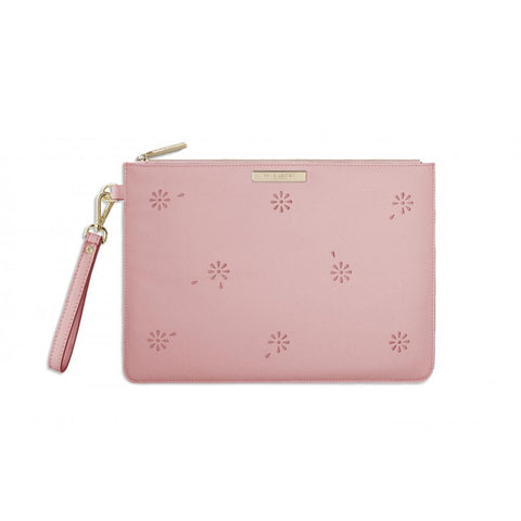 Katie Loxton Beautiful Blossom pouch in rose pink
