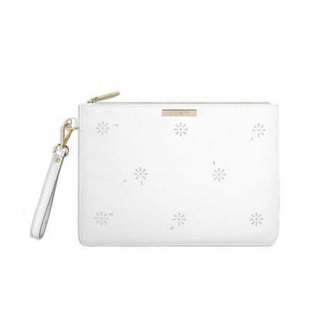 Katie Loxton Beautiful Blossom Pouch in White
