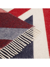 Load image into Gallery viewer, Union Jack Throw By Bronte close up