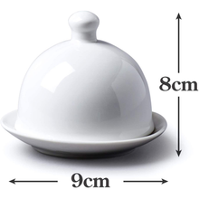Load image into Gallery viewer, an image depicting the dimensions of the butter dish