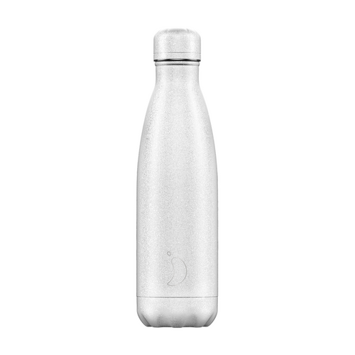 Chilly's Glitter Bottle White 500ml