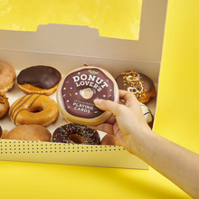 Load image into Gallery viewer, the donut tin with a box of donuts