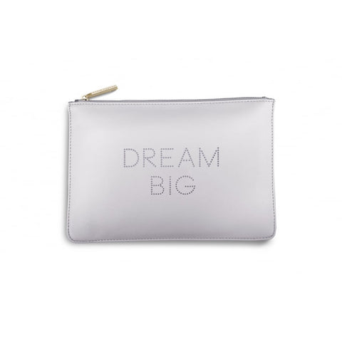 Katie Loxton 'Dream Big' big polka dot lilac pouch