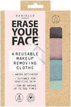 Load image into Gallery viewer, Erase Your Face - 4 Reusable Makeup Removing Cloths - Pastel