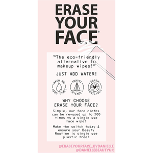 Erase Your Face - 4 Reusable Makeup Removing Cloths - Pastel