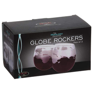 Globe Whisky Rockers Set of two glasses