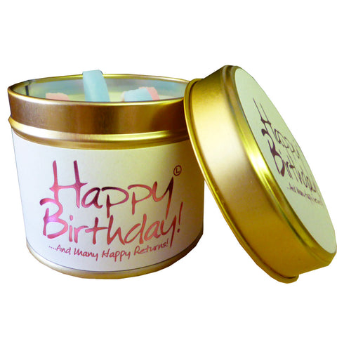 Happy Birthday Scented Candle by Lily Flame