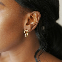 Load image into Gallery viewer, A woman modelling the earrings