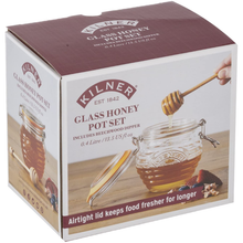 Load image into Gallery viewer, The box for the Kilner Glass Honey Pot Set