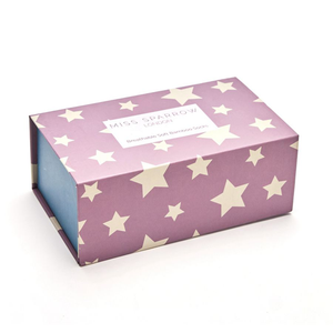 The star patterned gift box which the socks come in