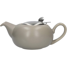 Load image into Gallery viewer, a squat grey teapot