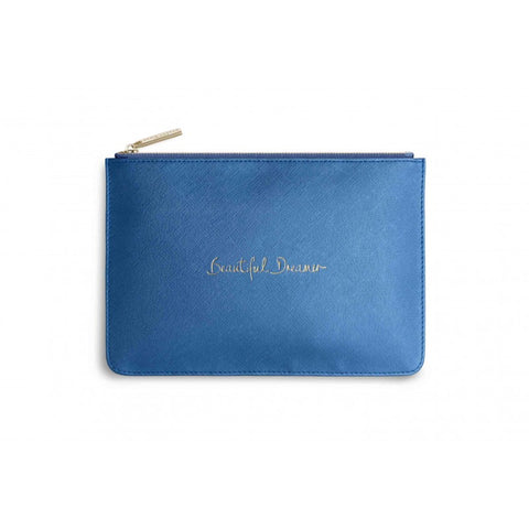 Katie Loxton 'Beautiful Dreamer' Perfect Pouch Blue - Papyrus