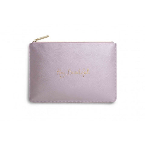 Katie Loxton 'Hey Beautiful' Perfect Pouch Metallic Pink - Papyrus