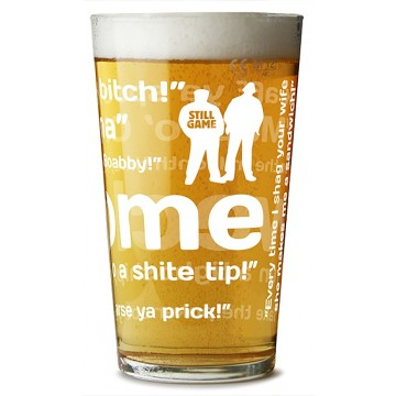 Still Game Phrases Pint Glass