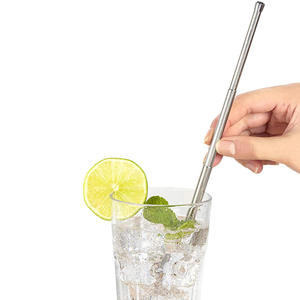 the straw in a drink