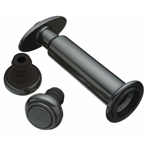 the black plastic vaccum pump with two re-useable bottle sealers