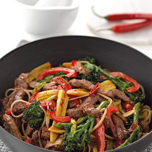 the wok serving up a stir fry